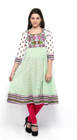 Buy  Anouk Printed Women's Anarkali Kurta from Flipkart at Rs 498 only