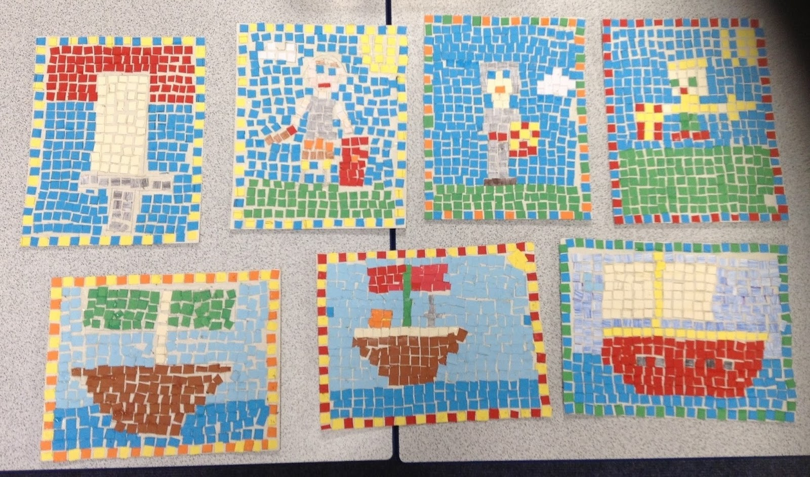 Year 4 gods and gladiators for Roman mosaic templates for kids
