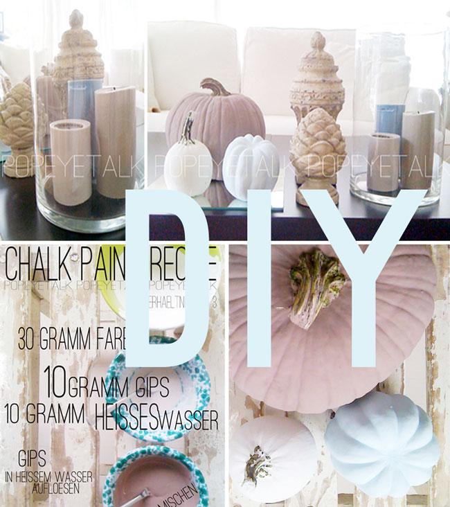 Popeyetalk Homemade Chalk Paint Pumpkins Samt Rezeptur
