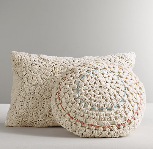 Rh Modern Pillows : Crocheting Conversations: Lay down your head....