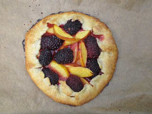Nectarine Blackberry Galette