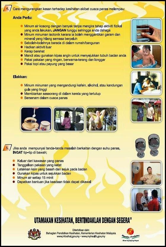 Cuaca Panas - Nasihat Kementerian Kesihatan Malaysia