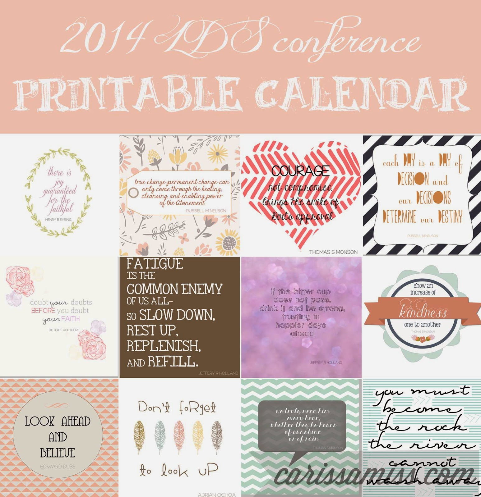 Carissa Miss: Project Life Conference Printable
