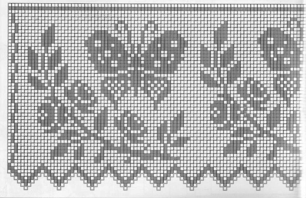Фото схем филейного вязания 475