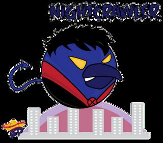 Nightcrawler Superheroes estilo Angry Birds