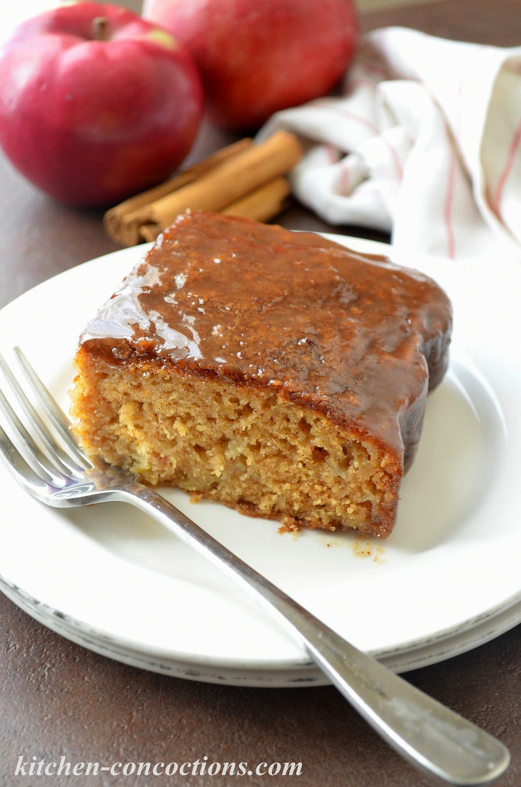 Kitchen Concoctions: Apple Cake with Brown Sugar Glaze