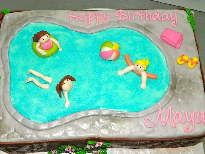 Birthday Cake Ideas For A Pool Party : Plumeria Cake Studio: Pool Party Birthday Cake