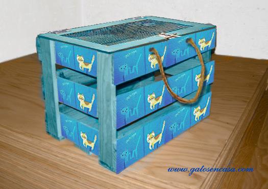 Convierte una caja de fruta en un transportín para gato