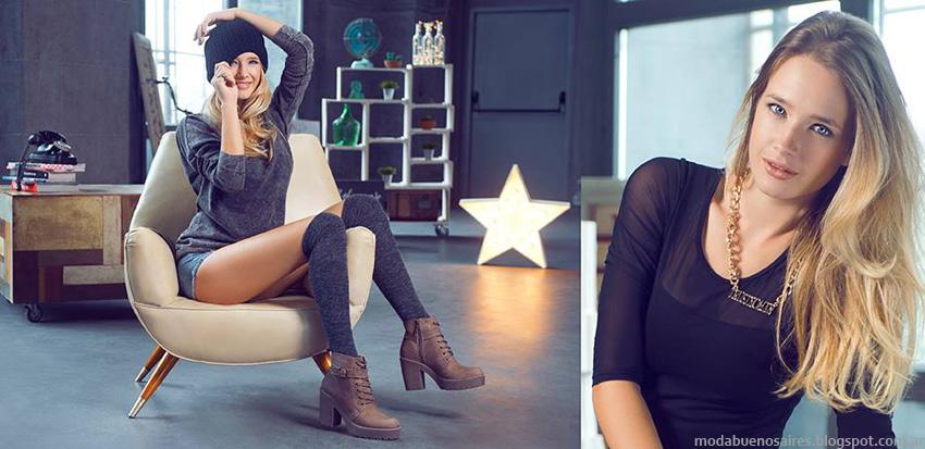 Moda otoño invierno 2014 zapatos. Lady Stork otoño invierno 2014 borcegos y botinetas.