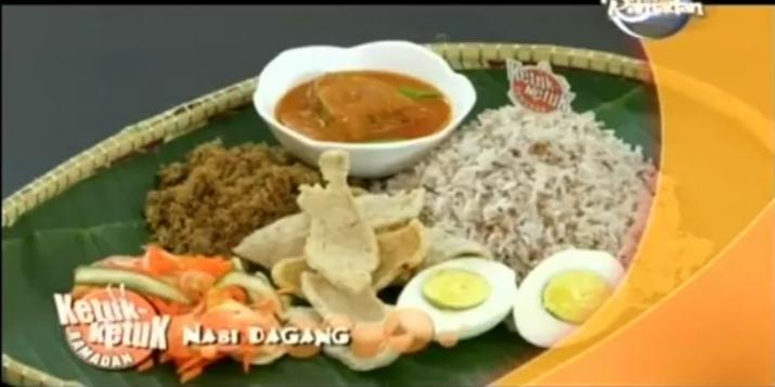 Ketuk Ketuk Ramadan bersama Erry Putra, Rendang Ayam Jering, Nasi Dagang
