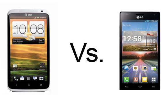 HTC One X Vs LG Optimus 4X HD