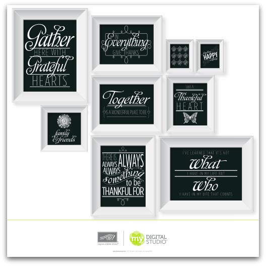 Stampin' Up! Grateful Hearts Framables Digital Download