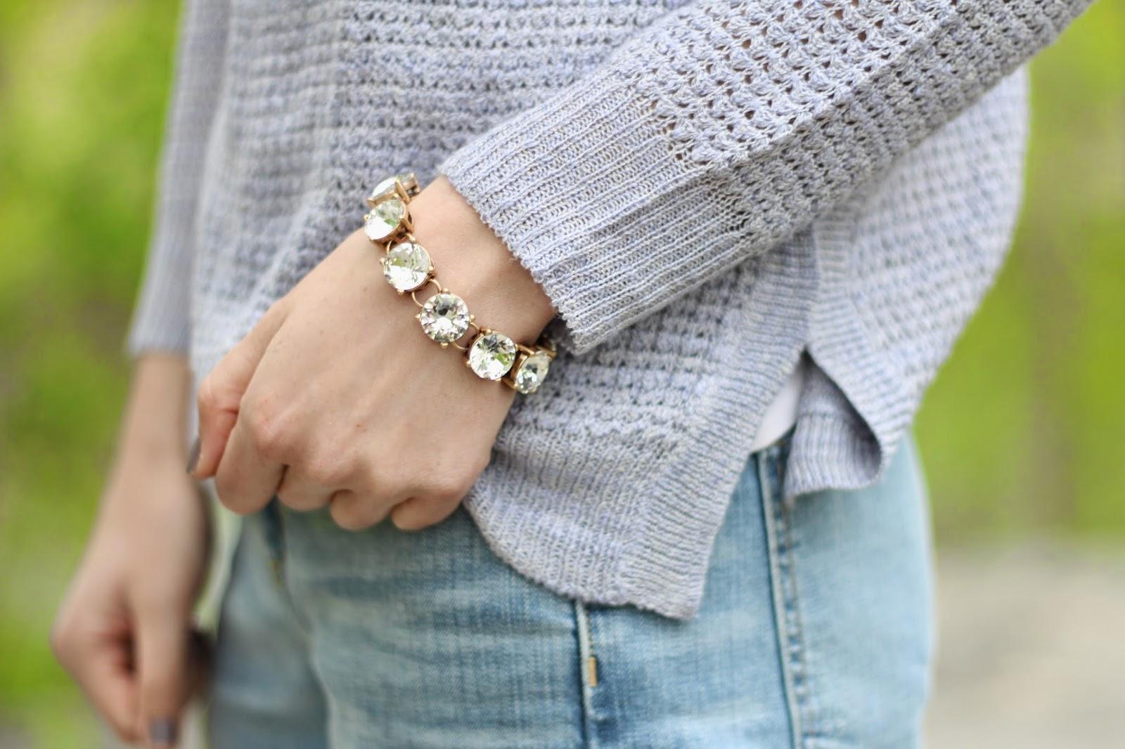 Crystal stud bracelet