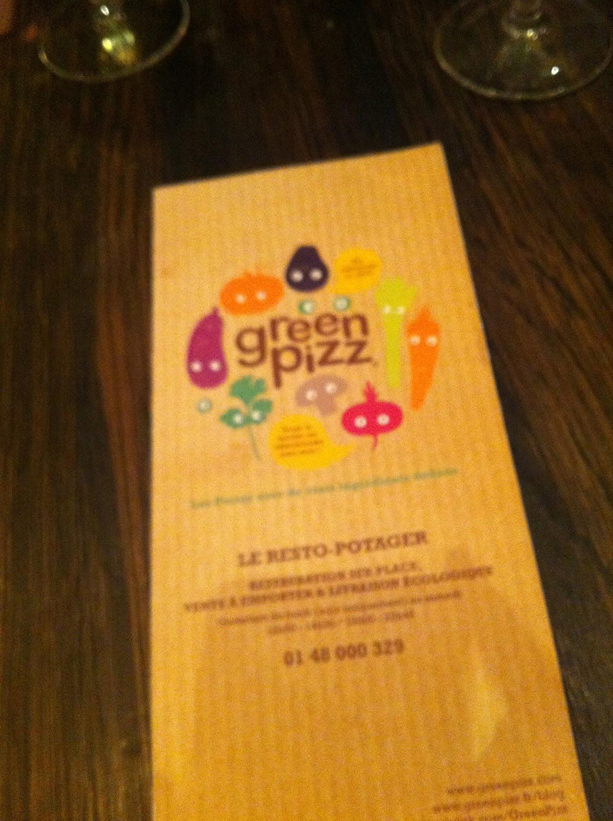 A Table Paris Greenpizz La Pizza Verte Paris 9