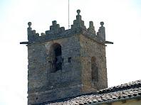 Detall del pis superior del campanar de Sant Andreu de Gurb