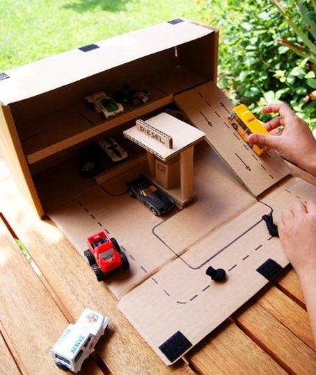 Как из картона сделать гараж для машинок своими руками схемы