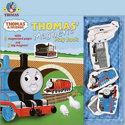 Magnetic kids playbook Thomas the train & Friends favorite characters hardcover 10 page 9 shapes