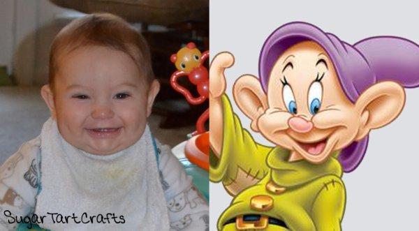 baby looks like dopey dwarf