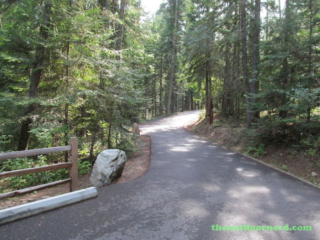 Outlet Campgrounds At Priest Lake, Idaho: Main Road