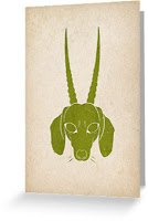 horned dachshund gift card