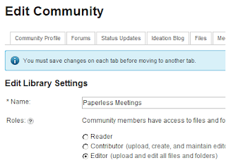 Edit IBM Connections Library settings