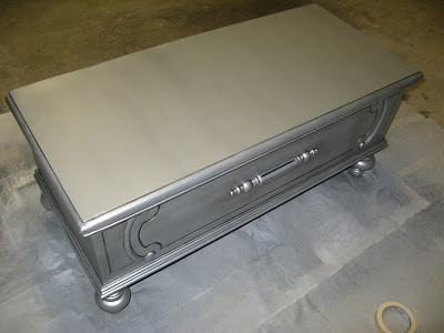 Antique Silver Paint Finish