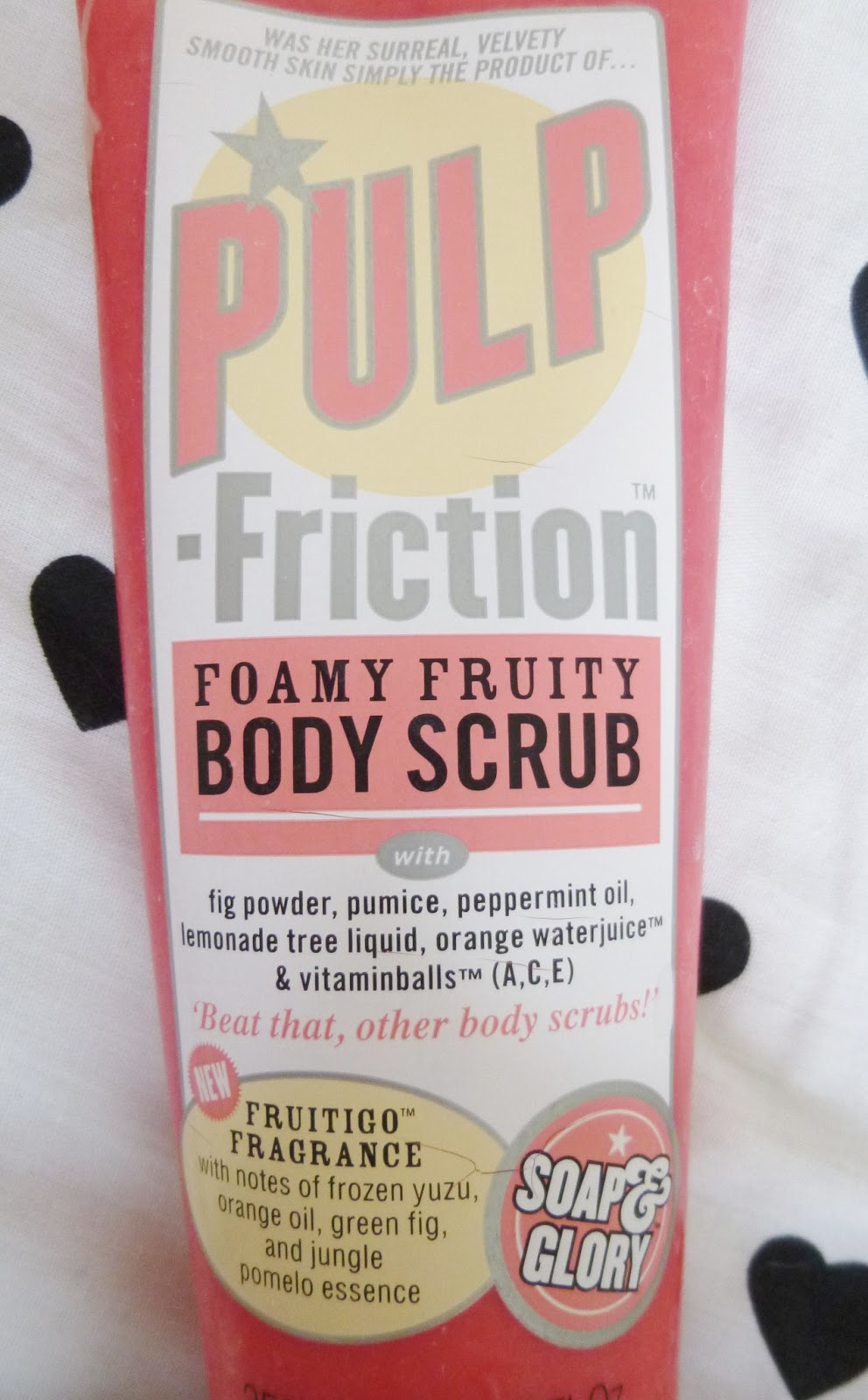 The Soap & Glory Pulp Friction Scrub Is My Goto Exfoliator For The Tops Of  My