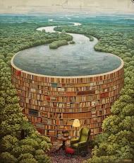 Detrás de cada pila de libros, hay ...