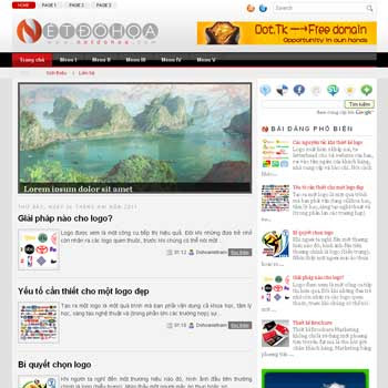 Netdohoa-ThemeV01 blog template. template image slider blog. magazine blogger template style
