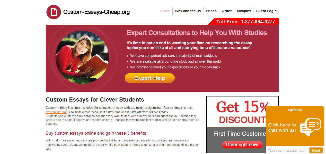 Cheap custom essays