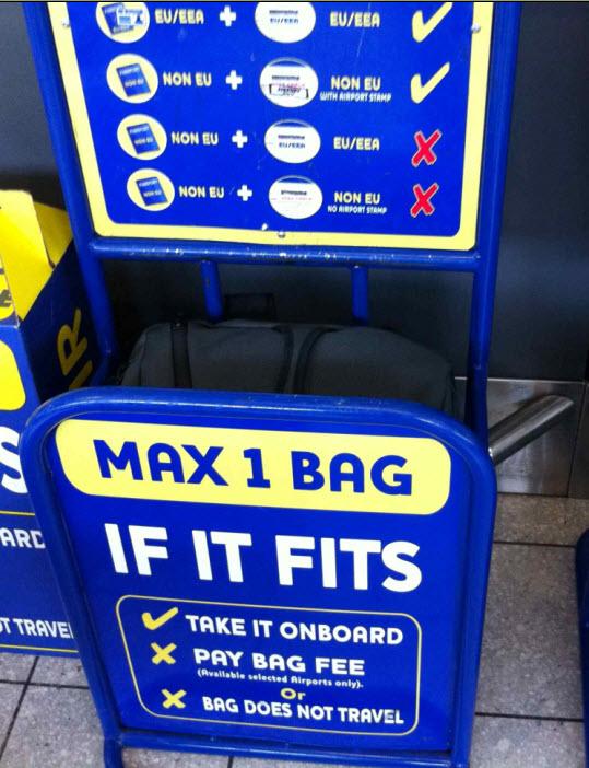 Ryanair Ruuma Laukku : Nelzu reissaa halpalentoyhti? nimelt? ryanair
