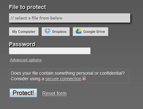 Memproteksi file pdf secara online