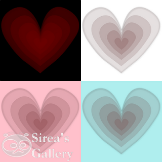 3D heart icon