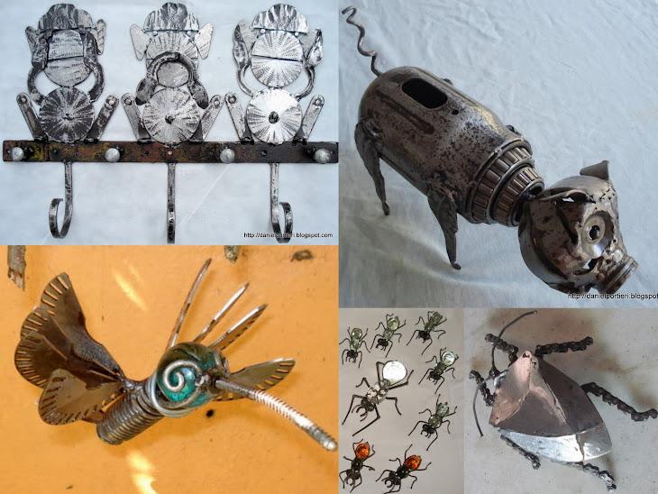 Algumas peças realizadas sob encomenda de clientes