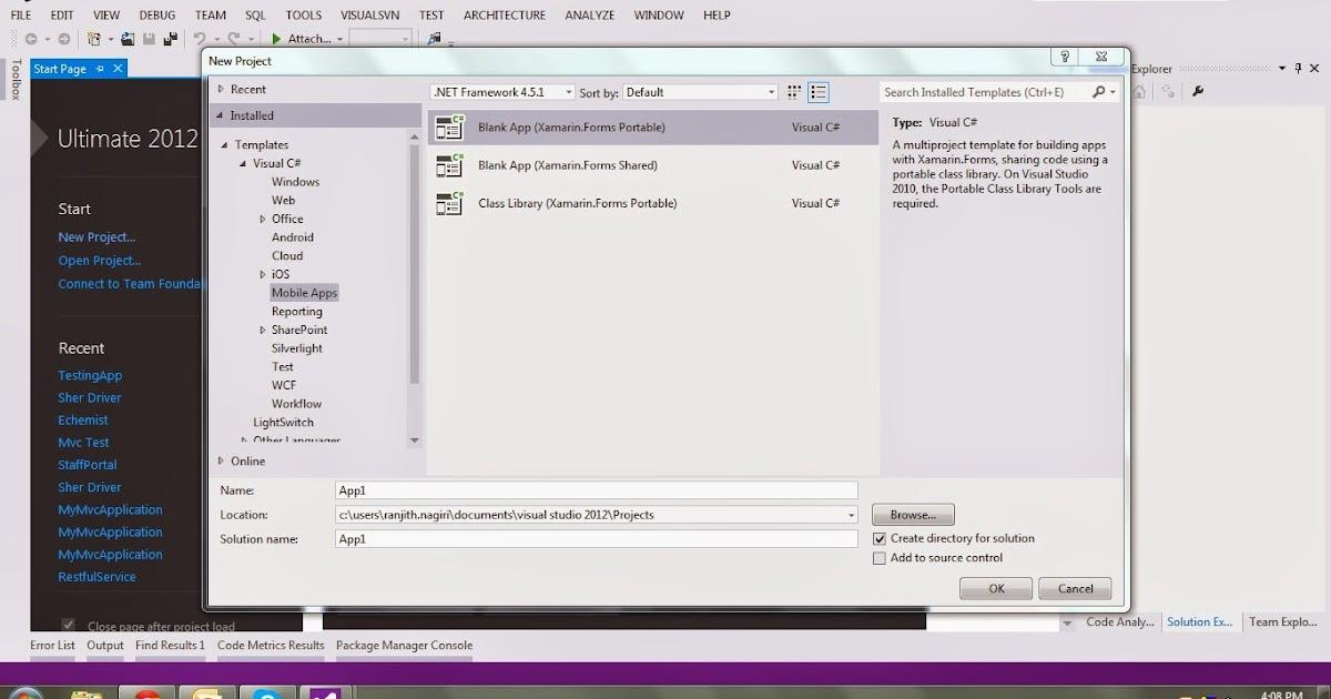 LearnXamarin: MasterDetailPage example in xamarin forms