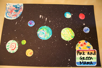 Pink and green mama solar system projects outer space for Outer space crafts