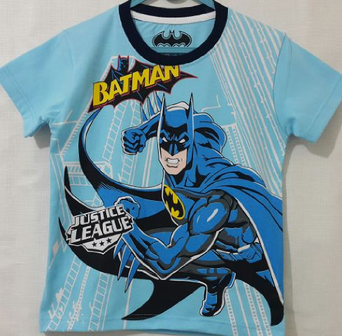 Baju Anak Karakter Batman Biru Size 1 - 6 Y
