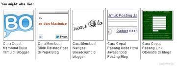 kalian tau gak sih bedanya artikel terkait dengan thumbnails Dengan Artikel terkait biasa ?