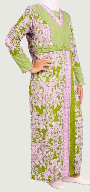 Model gamis batik kombinasi banyak pilihan warna Baju gamis batik anak2