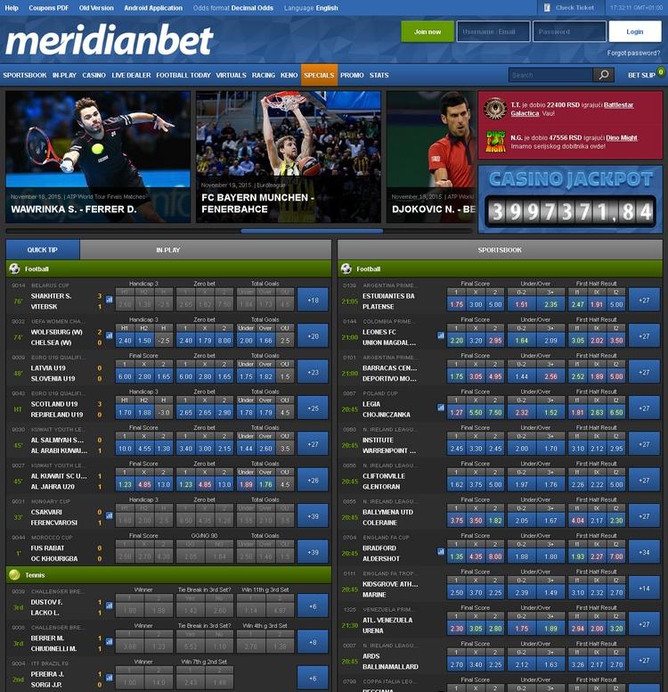 Meridianbet Offers