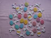 Conjunto de galletas de Pascua. galletas de pascua