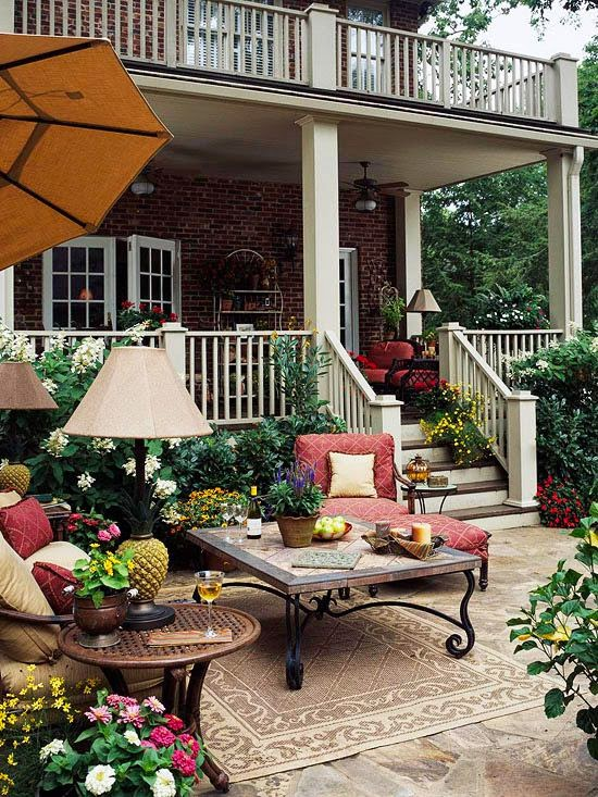 Design addict mom home depot patio style challenge for Outdoor patio inspiration