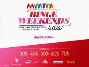 Myntra Benge Valentines freecharge vouchers
