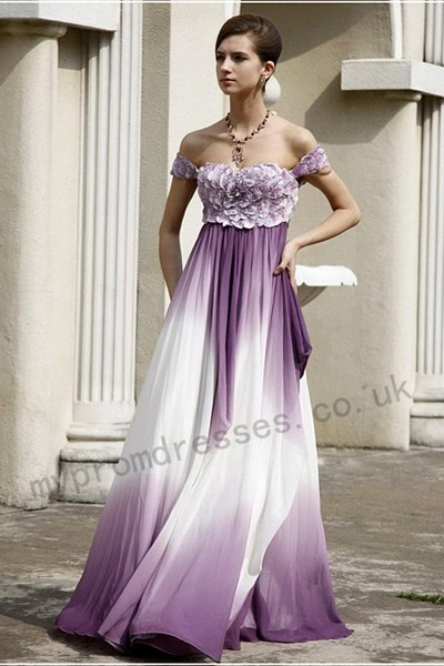 Wedding Dresses With Purple In Them