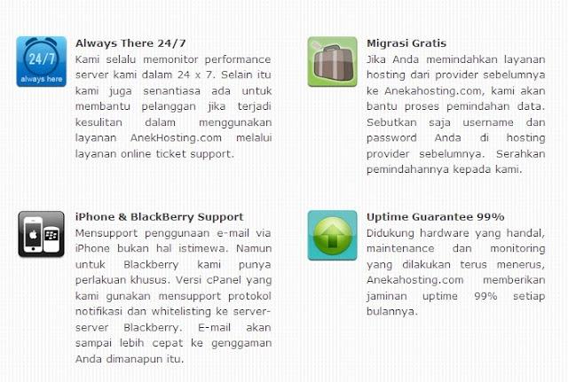 Fitur paket hosting murah