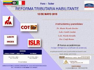 FORO REFORMA TRIBUTARIA HABILITANTE EN PUERTO ORDAZ