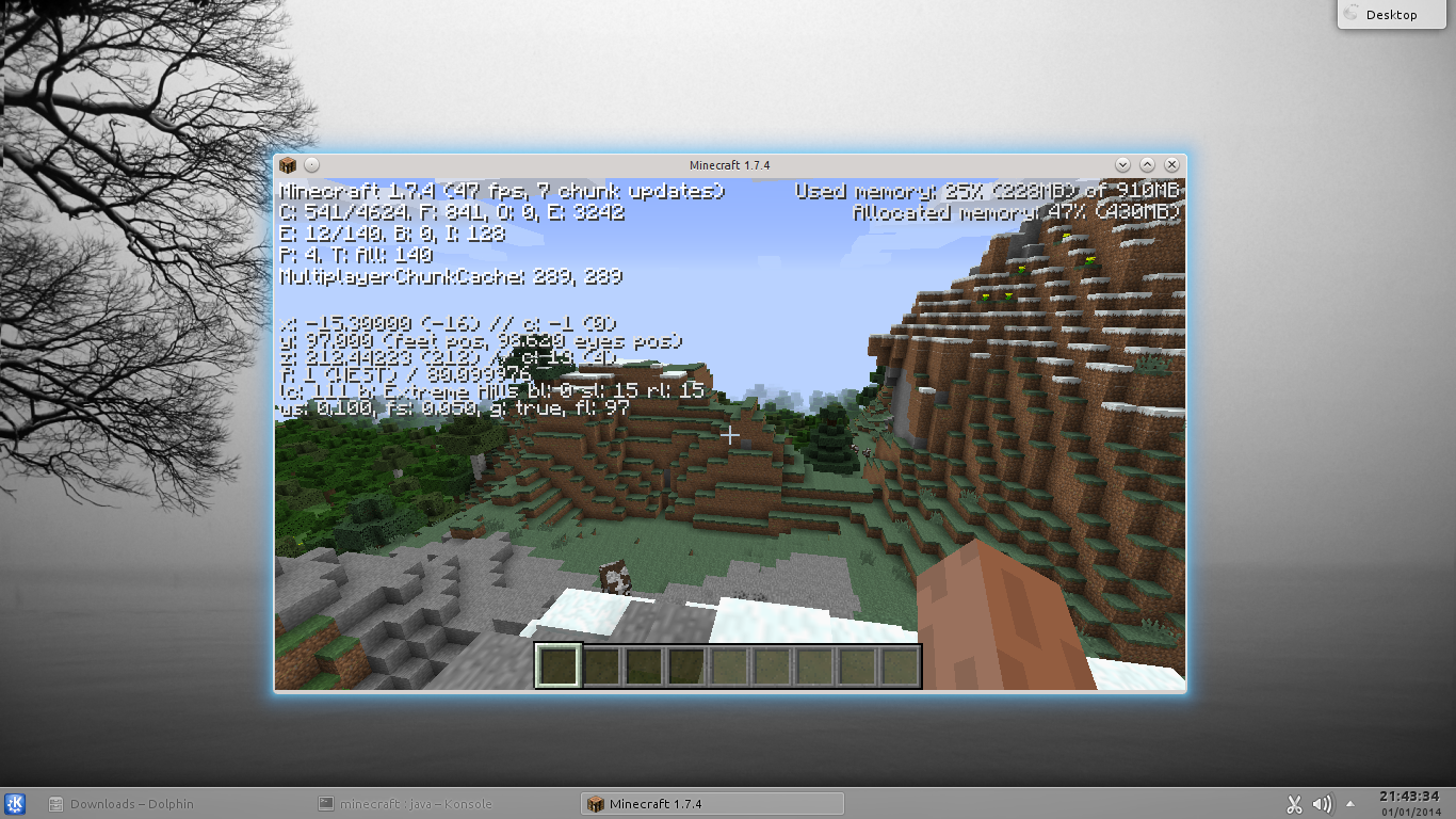 Minecraft up and running nicely