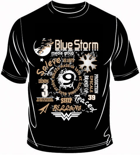 Blue storm T shirt screen print design | Fashion Design, T-shirt ...