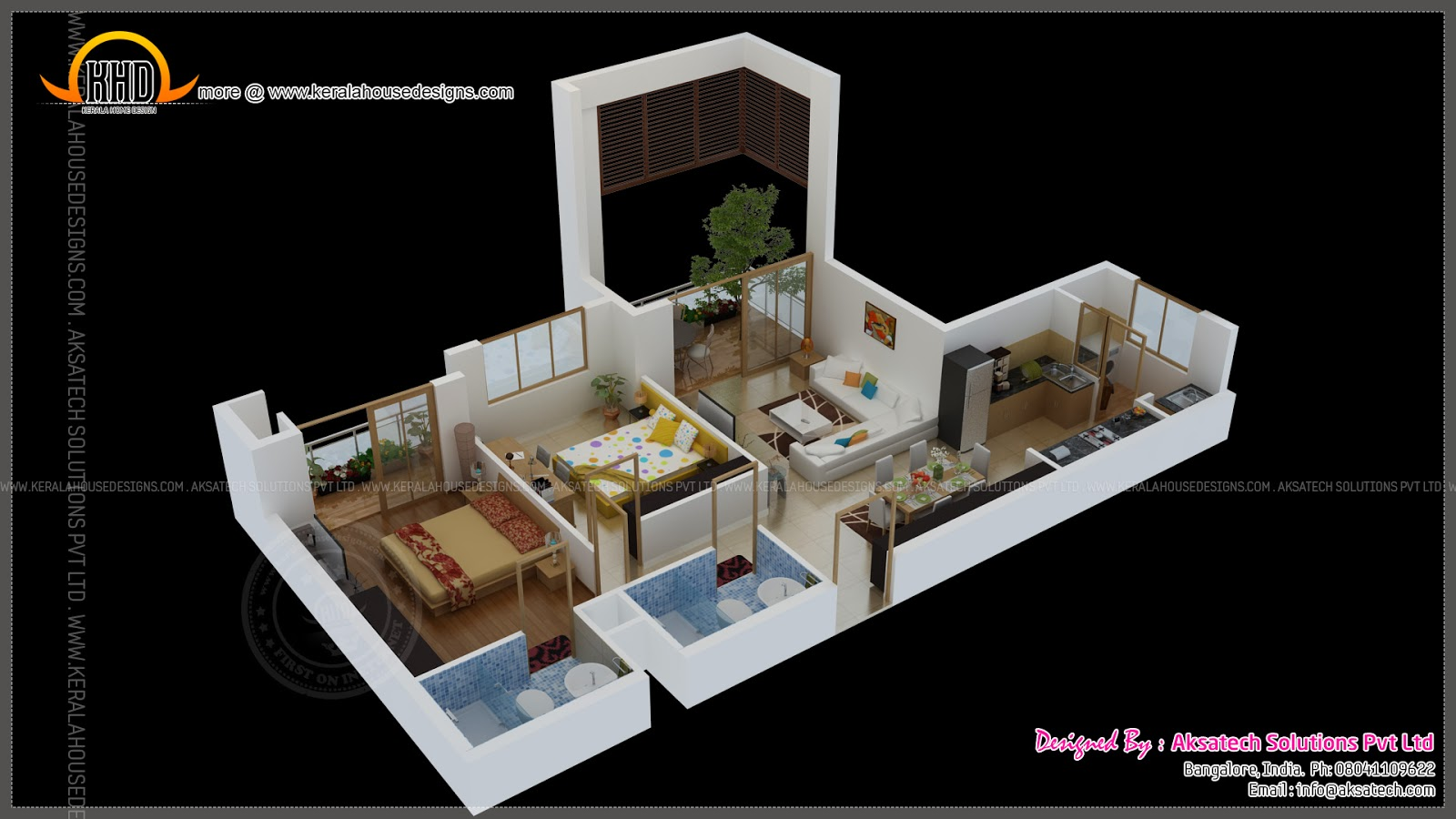Isometric Drawings 3d By Aksatech Indian House Plans