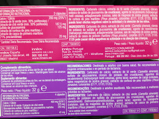Ingredientes del Innéov Diet Partner y el Innéov Celulutis